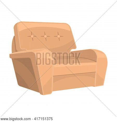 Home Armchair Vector Cartoon Icon. Vector Illustration Comfortable Chair On White Background. Isolat