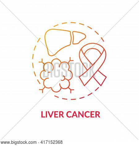 Liver Cancer Concept Icon. Liver Failure Outcome Idea Thin Line Illustration. Fluid Buildup. Blood C