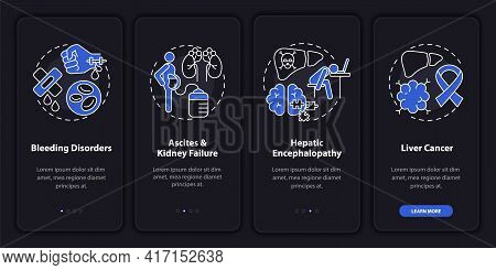Liver Failure Aftermath Onboarding Mobile App Page Screen With Concepts. Kidney Failure Walkthrough