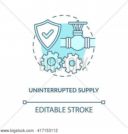 Uninterrupted Supply Concept Icon. Energy Security Part Idea Thin Line Illustration. Supply-demand B
