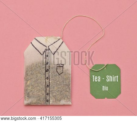 Abstract Tea Bag Like Shirt Shoot In Studio