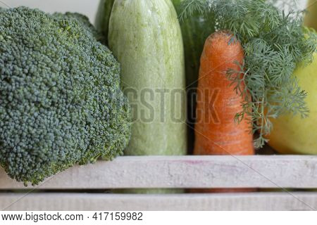 Home-grown Vegetables. Fresh Organic Vegetables. Colorful Vegetable. Healthy Vegetable. A Variety Of