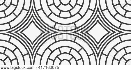 Pattern Paver Ceramic Tile Background. Vector Illustration.