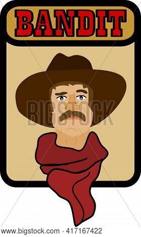 Image Of Cowboy Bandit With Hat And Scarf