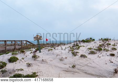 Sand Dunes With