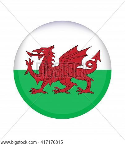 National Wales Flag, Official Colors And Proportion Correctly. National Wales Flag.