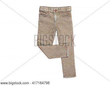 Gray Denim Pants, Gray Fustian Pants, Grey Pants Close Up