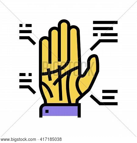 Palmistry Astrological Color Icon Vector. Palmistry Astrological Sign. Isolated Symbol Illustration