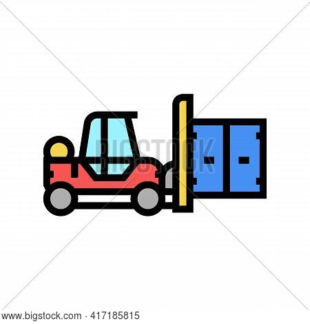 Loader Port Color Icon Vector. Loader Port Sign. Isolated Symbol Illustration