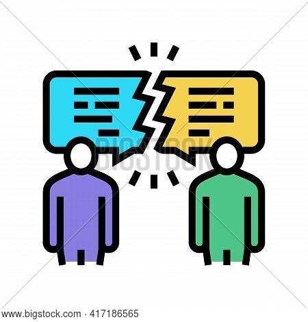 Different Opinions Color Icon Vector. Different Opinions Sign. Isolated Symbol Illustration