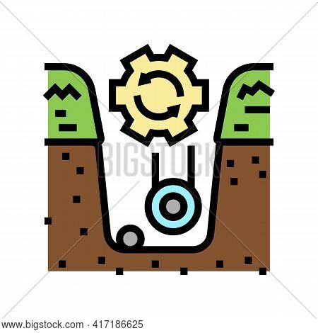 Supply Of Land Communications Color Icon Vector. Supply Of Land Communications Sign. Isolated Symbol