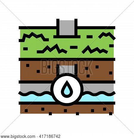 Water Communication Land Color Icon Vector. Water Communication Land Sign. Isolated Symbol Illustrat