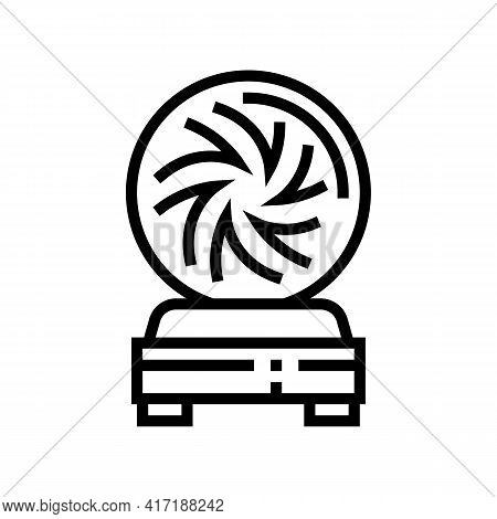 Ball Astrological Line Icon Vector. Ball Astrological Sign. Isolated Contour Symbol Black Illustrati
