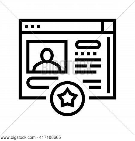 Customer Account Bonus Line Icon Vector. Customer Account Bonus Sign. Isolated Contour Symbol Black