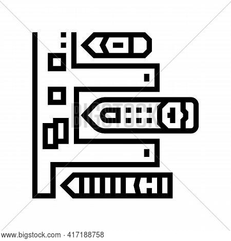 Pier Of Port Line Icon Vector. Pier Of Port Sign. Isolated Contour Symbol Black Illustration