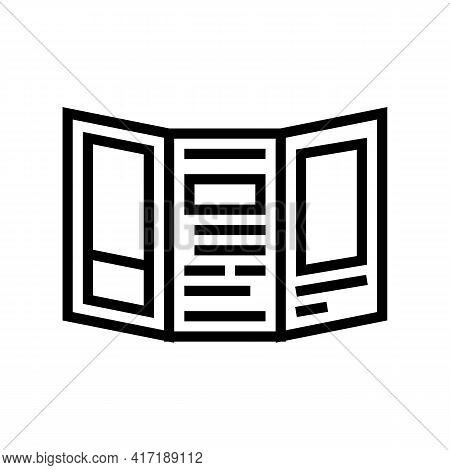 Handout Flyer Of Forum Line Icon Vector. Handout Flyer Of Forum Sign. Isolated Contour Symbol Black