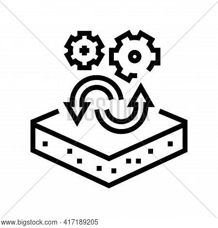 Transfer To Another Purpose Of Premises Line Icon Vector. Transfer To Another Purpose Of Premises Si