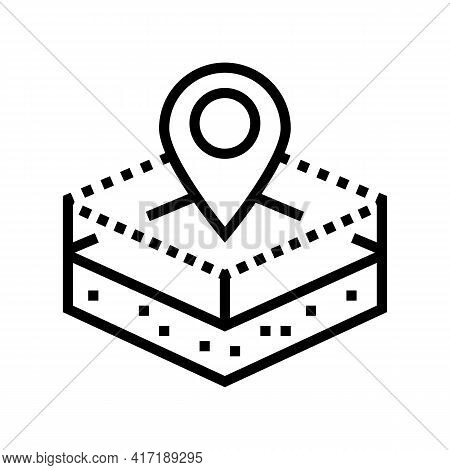 Territory Land Line Icon Vector. Territory Land Sign. Isolated Contour Symbol Black Illustration