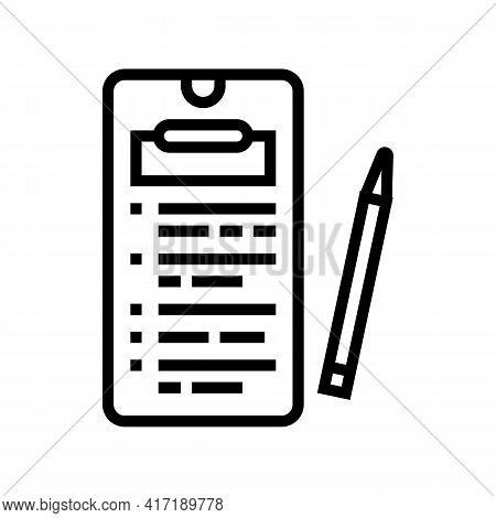 Online Education Application Line Icon Vector. Online Education Application Sign. Isolated Contour S