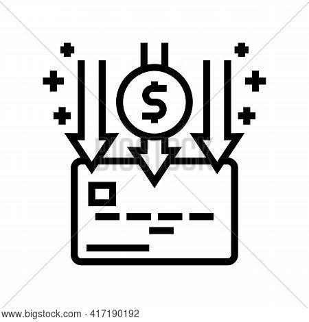 Enrollment Card Line Icon Vector. Enrollment Card Sign. Isolated Contour Symbol Black Illustration