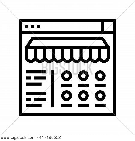 Food Ordering Department Line Icon Vector. Food Ordering Department Sign. Isolated Contour Symbol Bl