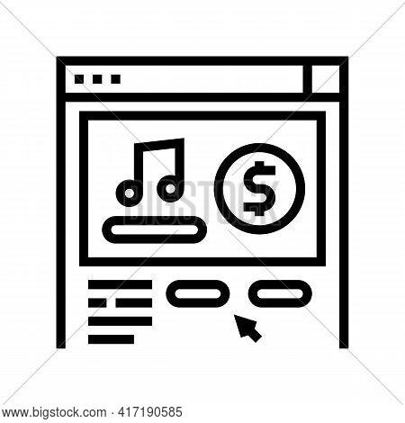 Music Shop Department Line Icon Vector. Music Shop Department Sign. Isolated Contour Symbol Black Il