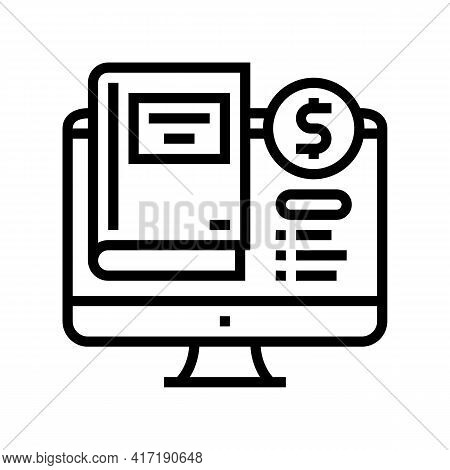 Library Book Shop Department Line Icon Vector. Library Book Shop Department Sign. Isolated Contour S