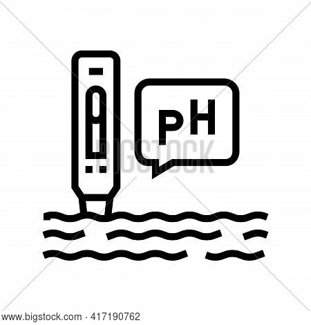 Ph Water Line Icon Vector. Ph Water Sign. Isolated Contour Symbol Black Illustration