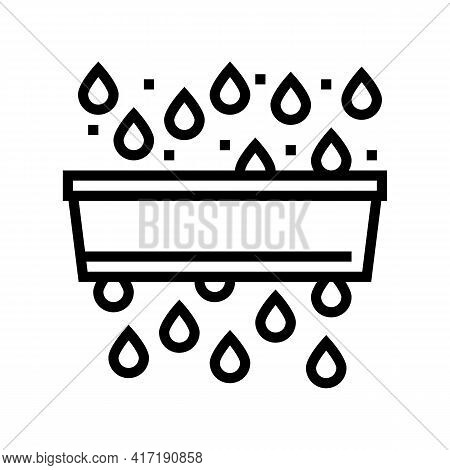 Water Purification And Pollution Line Icon Vector. Water Purification And Pollution Sign. Isolated C