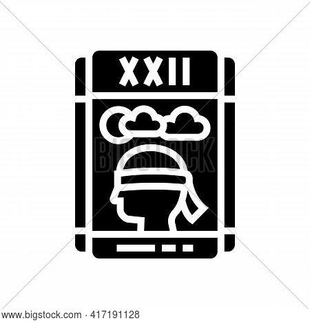 Tarot Cards Astrological Glyph Icon Vector. Tarot Cards Astrological Sign. Isolated Contour Symbol B