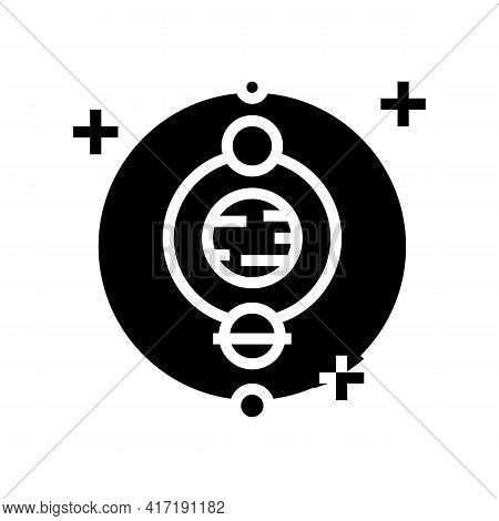 Astrology Occupation Glyph Icon Vector. Astrology Occupation Sign. Isolated Contour Symbol Black Ill