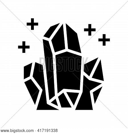 Crystals Astrological Glyph Icon Vector. Crystals Astrological Sign. Isolated Contour Symbol Black I