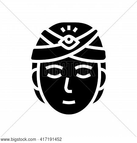 Divination Astrological Glyph Icon Vector. Divination Astrological Sign. Isolated Contour Symbol Bla