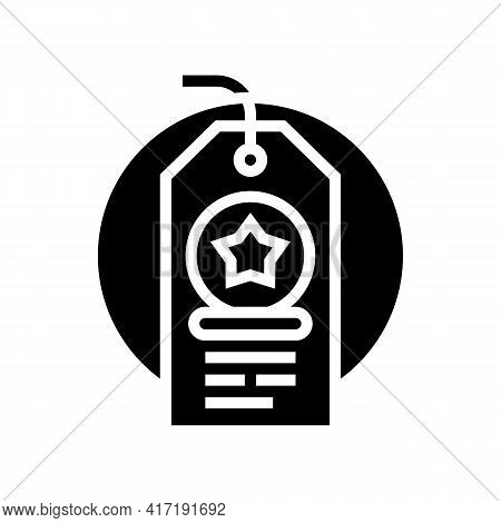 Label Sale Bonus Glyph Icon Vector. Label Sale Bonus Sign. Isolated Contour Symbol Black Illustratio