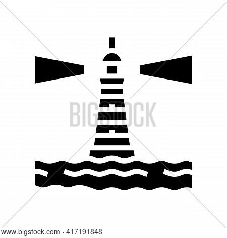 Containers Loading On Ship In Port Glyph Icon Vector. Containers Loading On Ship In Port Sign. Isola