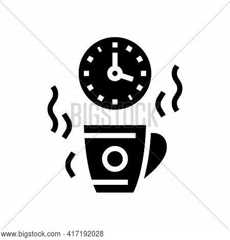 Coffee Break Forum Glyph Icon Vector. Coffee Break Forum Sign. Isolated Contour Symbol Black Illustr