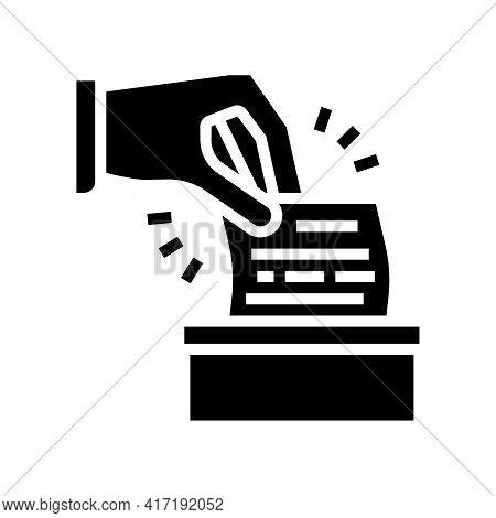 Vote On Forum Glyph Icon Vector. Vote On Forum Sign. Isolated Contour Symbol Black Illustration