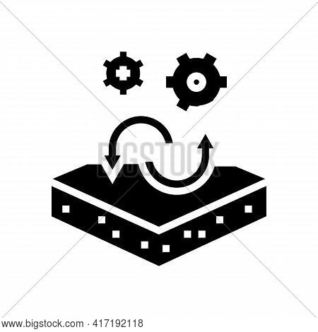 Transfer To Another Purpose Of Premises Glyph Icon Vector. Transfer To Another Purpose Of Premises S