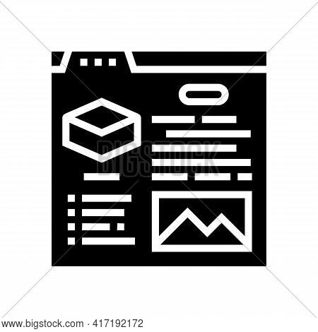 Characteristics Land Glyph Icon Vector. Characteristics Land Sign. Isolated Contour Symbol Black Ill
