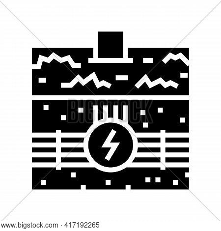 Electricity Communication Land Glyph Icon Vector. Electricity Communication Land Sign. Isolated Cont