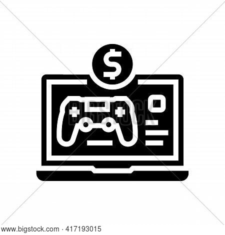 Game Shop Department Glyph Icon Vector. Game Shop Department Sign. Isolated Contour Symbol Black Ill