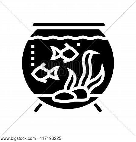 Aquarium Water Glyph Icon Vector. Aquarium Water Sign. Isolated Contour Symbol Black Illustration