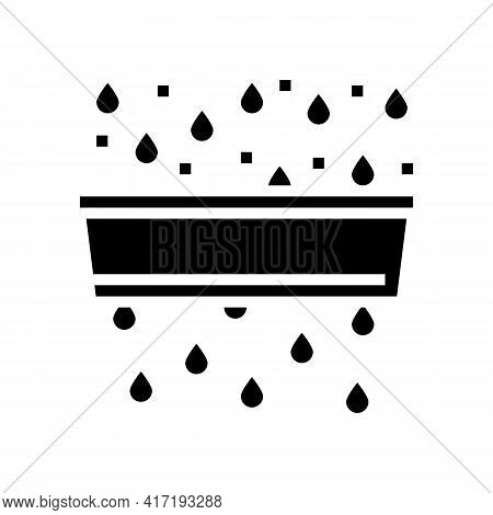 Water Purification And Pollution Glyph Icon Vector. Water Purification And Pollution Sign. Isolated