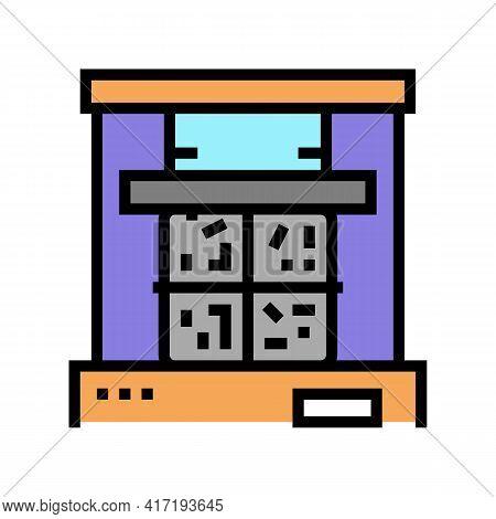 Pressing Aluminium Color Icon Vector. Pressing Aluminium Sign. Isolated Symbol Illustration