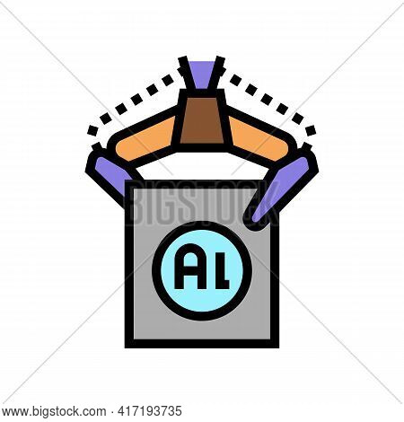 Carrying Aluminium Production In Plant Color Icon Vector. Carrying Aluminium Production In Plant Sig