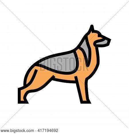 German Shepherd Dog Color Icon Vector. German Shepherd Dog Sign. Isolated Symbol Illustration