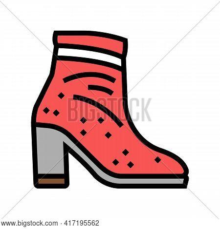 Velvet Shoe Care Color Icon Vector. Velvet Shoe Care Sign. Isolated Symbol Illustration