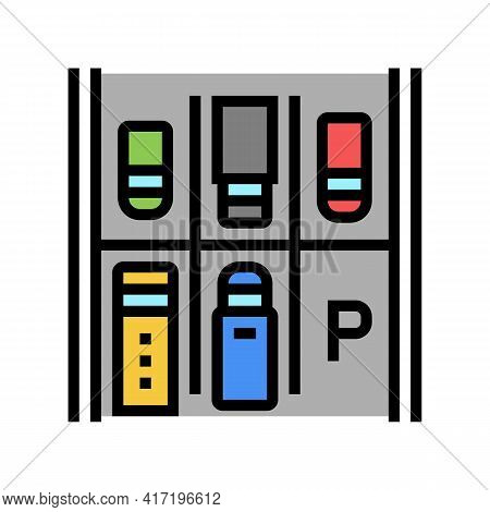 Free Place On Parking Color Icon Vector. Free Place On Parking Sign. Isolated Symbol Illustration