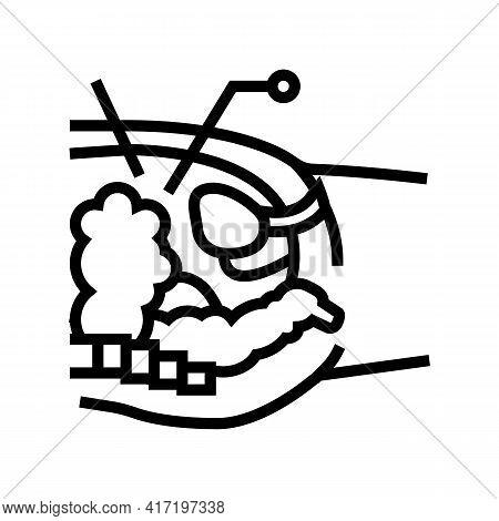 Operation Process Bariatric Line Icon Vector. Operation Process Bariatric Sign. Isolated Contour Sym