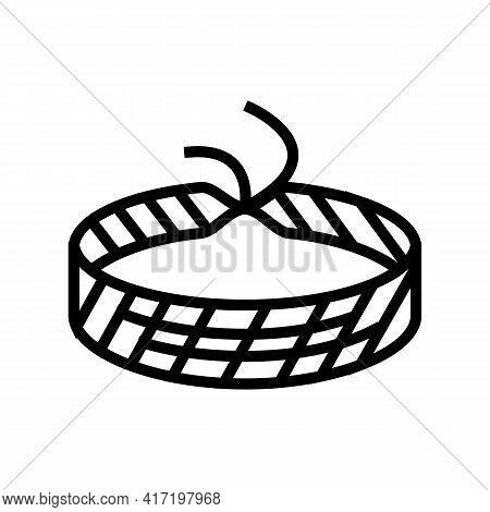Baubles Jewellery Line Icon Vector. Baubles Jewellery Sign. Isolated Contour Symbol Black Illustrati
